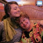 Marie Garlock pictured embracing her mom, Barbara Garlock.