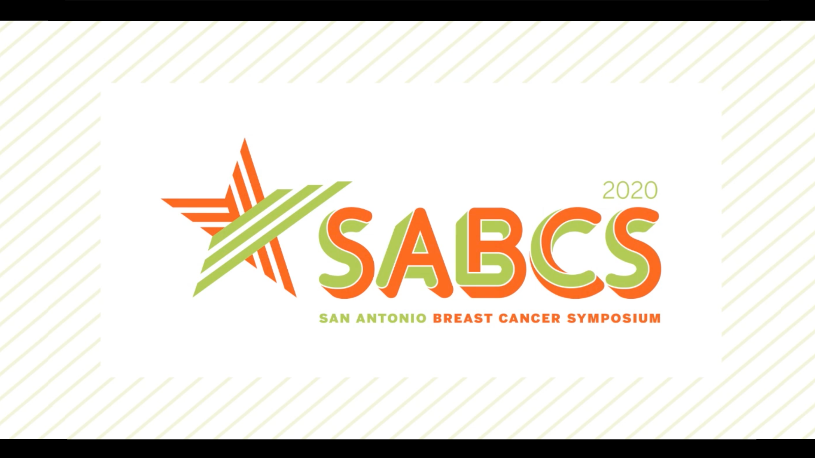 The SABCS Video Backdrop featuring the SABCS logo